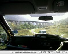 in England, must see the Glenfinnan Viaduct... Harry Potter's Hogwarts Express Bridge