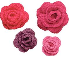Ten Beautiful Ways to Crochet a Flower - with links to free patterns & tutorials, including these easy roses!