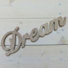palabra dream cm ancho x cm alto madera uac