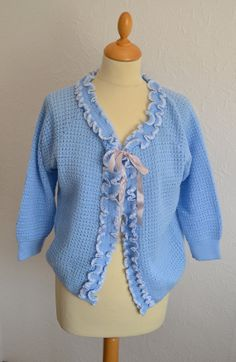60s Knitted Bed Jacket UK Size 1216 by VeryVintageClothing on Etsy, £16.00