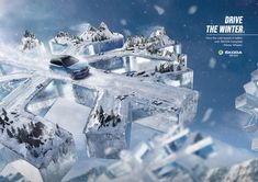 Skoda Print Advert By Dentsu: Snowflake | Ads of the World™