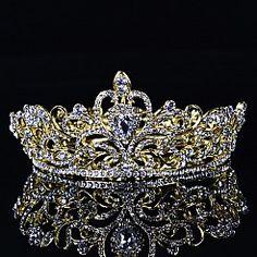 Vintage Golden Tiara in Fairy Tale Style