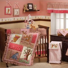 girl Winnie the Pooh bedding. I would LOVE my baby girl's nursery to look JUST like this!
