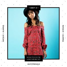 Day 5: For the woman who isn't afraid to show a bit of skin, this Natalie & Alanna off the shoulder dress is for her