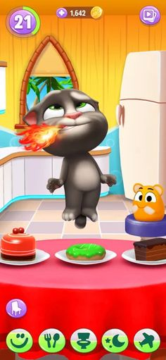 Mein Talking Tom 2 im AppStore Ipod Touch, Talking Tom 2, Im App, Toms, Iphone, App Store, Decor, Cool Cats, Baby Kitty