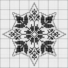 Octogonal 04   Free chart for cross-stitch, filet crochet   gancedo.eu