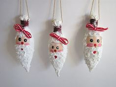 last years christmas lights not working? Turn them into little santas!