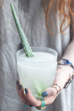 How To Make Aloe Water- it may be worth a shot if you suffer from an inflammatory disorder such as IBS or colitis.  Source: Aloe Juice – How to Make Aloe Water | Free People Blog http://blog.freepeople.com/2013/08/aloe-water/#ixzz2dKeMNQ9L