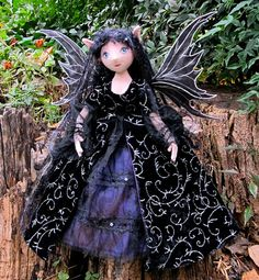 Reserved Commission Dark Fairy for Nina by TheFairiesNest on Etsy