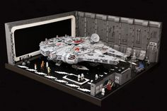 The Death Star's Docking Bay 327 gets a remarkable Lego makeover