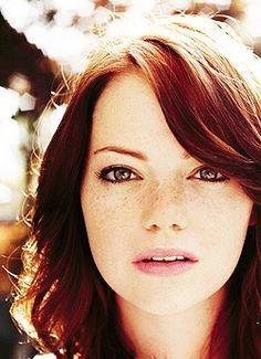 Emma Stone. Watch her in: Crazy Stupid Love, The Help, The Amazing Spider-Man, Easy A, Birdman
