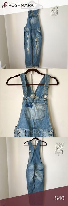 NWT ARIZONA Overalls ARIZONA distressed overalls.  Got it as a gift but my booty won't fit into it. Arizona Jean Company Other