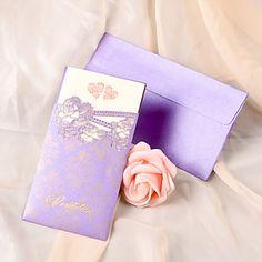 Personalized Romantic Double Hearts Wedding Invitation-Set of 50 – AUD $ 60.05