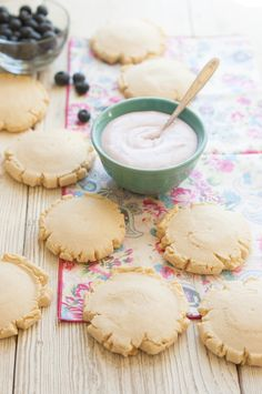 Fresh Blueberry Frosted Swig Copycat Cookies | thekitchenmccabe.com