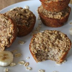 Delicious Gluten Free Banana Muffins ~ great for a grab and go breakfast or early morning snack!