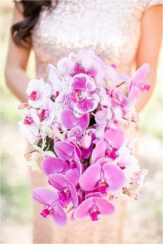 Cascading Orchids Wedding Bouquet ~ Love Janet Photography, Floral Design: Flora Copia