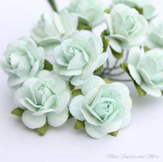 Minze Grüne Blume Ornamente  Dekorationen für von MintFavorsAndMore