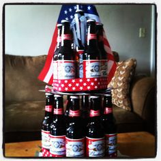 Budweiser cake! Make this for my husband Adam on his birthday :)