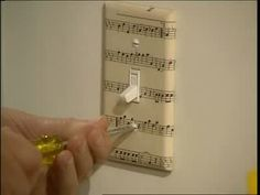 How to Decoratively Cover Switch plates Videos | Home & Garden How to's and ideas | Martha Stewart