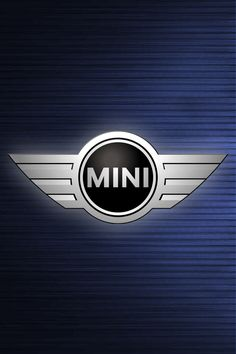 Mini Cooper Logo Blue Wallpaper for iPhone 4 and 4s HD Wallpaper Background