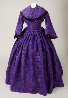 Purple Silk Civil War Dress, America