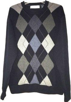 Roundtree /& Yorke Mens 1//4 Zip Sweater Vest Dark Gray Cotton No Tag NEW