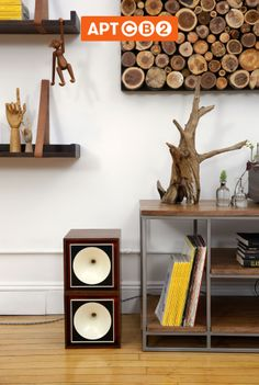 Turn up the volume with a vintage hi-fi system. See it in the #APTCB2 Collection at www.cb2.com/APTCB2