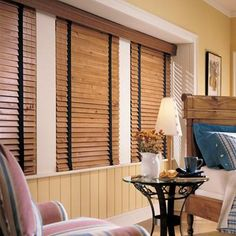 10 Inviting Cool Ideas: Bedroom Blinds Home Decor fabric blinds for windows.Livingroom Blinds Sliding Glass Door types of blinds for windows. Wooden Window Blinds, Interior Window Shutters, Faux Wood Blinds, Bamboo Blinds, Wood Windows, Bamboo Curtains, Interior Doors, Best Blinds, Diy Blinds