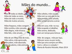 Continuo buscando...: Maio 2014 Education, School, Searching, Kids, Mother's Day Activities, Kids Activity Ideas, Poems For Mothers Day, Activities, Classroom