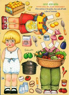Uncut Paper Doll Anne Estelle by Mary Engelbreit