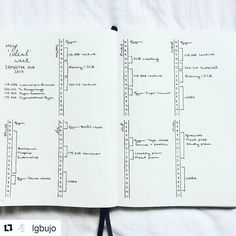 "246 Likes, 2 Comments - Minimalist Bullet Journals (@minimalistbujo) on Instagram: ""This spread by @lgbujo is pretty brilliant: ""I decided to create a physical layout of my #idealweek…"""