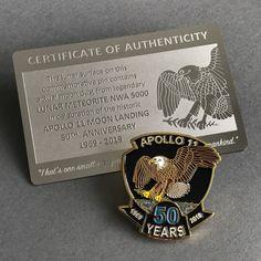 Moon Dust Space Gift - Apollo 11 50th Commemorative Pin  | Collectibles, Historical Memorabilia, Astronauts & Space Travel | eBay! Nasa Moon, Moon Moon, Pete Conrad, Lunar Meteorite, Apollo 11 Moon Landing, Buzz Aldrin, Kennedy Space Center, Air And Space Museum, Neil Armstrong