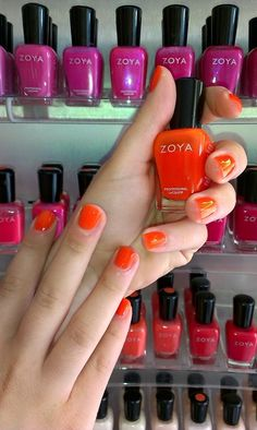 zoya orange nails