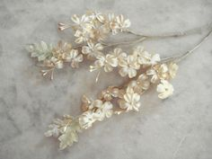 Vintage 1950's millinery flower two piece small satin flowers and velvet leaves