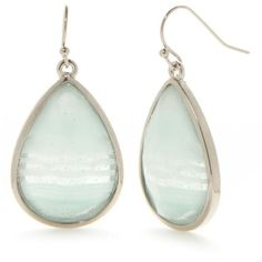 New Directions Blue Silver-Tone Art N Motion Teal Earrings ($8) ❤ liked on Polyvore featuring jewelry, earrings, blue, teal earrings, silvertone jewelry, silver tone jewelry, silver tone earrings and earring jewelry