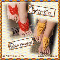 PDF Crochet Pattern for Barefoot Sandals por RainbowValleyCrochet