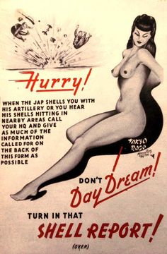 Don't daydream: WWII propaganda poster