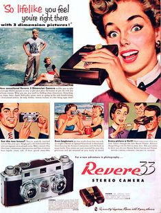 Revere Stereo Camera, 1953#Repin By:Pinterest++ for iPad#