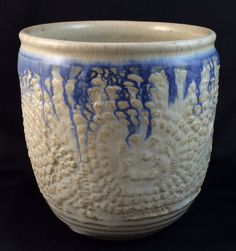 lace textured bowl by DWPottery on Etsy