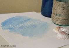 DIY Watercolor Printable (she: Carmella) and how to make your own - Carmella via Or so she says....