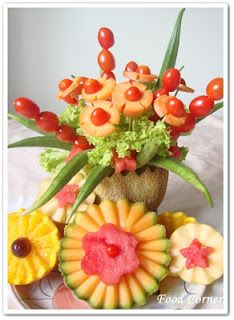 Easy Flower Vase Garnish