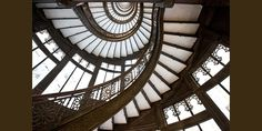 The famous spiraling staircase at the Chicago Rookery Building. #architecture
