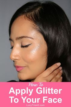So you're ready to move on to the next step in your makeup journey, which is to apply glitter face makeup! Here's a quick and easy way to do it! Best Makeup Tips, Beauty Tips For Face, Best Beauty Tips, Best Makeup Products, Makeup Ideas, Makeup Tutorials, Makeup Hacks, Morning Beauty Routine, Beauty Routines