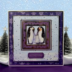 White Christmas by Hunkydory Crafts. Card made using 'Pick up a Pengiun' topper…