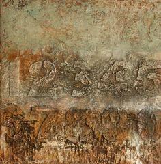 Mischtechnik auf Leinwand 30x30x4 cm