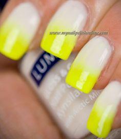 Gradient with China Glaze - Yellow Polka Dot Bikini and Lumene Hopeful