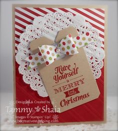 Merry Little Christmas Stamp Set and Season of Style Designer Paper, Chalk Talk Framelits