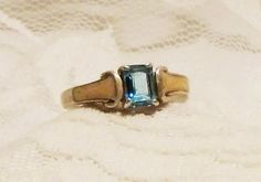Sterling Silver Blue Topaz and Enamel Ring by MrsFullersAttic