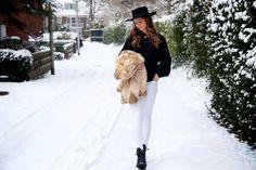Zara jumper, Zara boots, Asos hat, j brand jeans