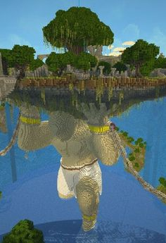 This is why people shouldn't think Minecraft is silly and stupid, because when it gets down to the core, it makes the most unimaginable things that blow our minds. This is Minecraft. Minecraft Kunst, Minecraft Bauwerke, Construction Minecraft, Minecraft Banner Designs, Minecraft Banners, Minecraft Pictures, Amazing Minecraft, Minecraft Blueprints, How To Play Minecraft